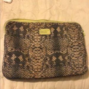 Marc Jacobs snakeskin laptop case